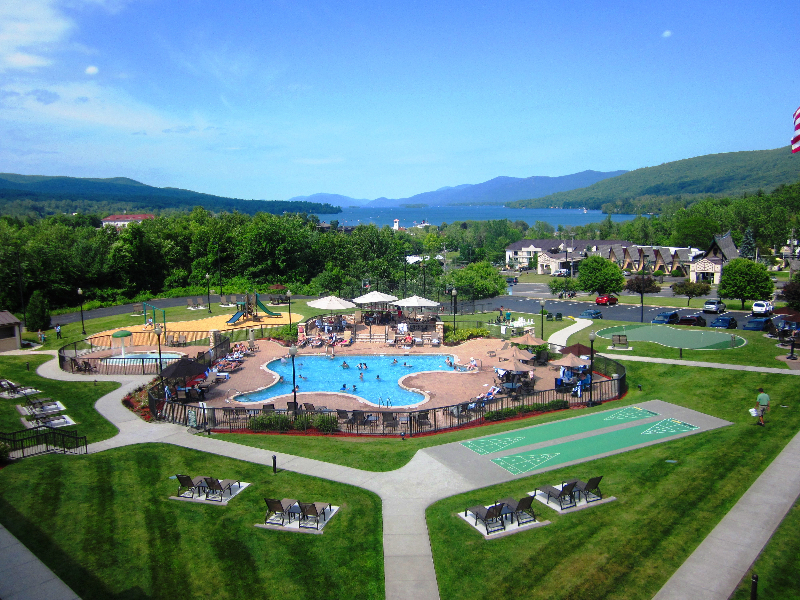 Holiday Inn Lake George Resort Outdoor Pool and Play Area